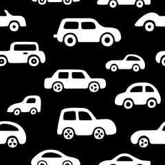 Doodle cars background. Can be used for textile, website background, book cover, packaging.