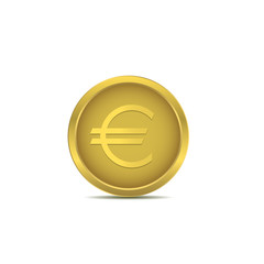 Golden euro coin