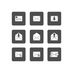 Mail icon.  Illustration