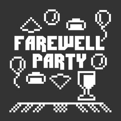 Farewell party illustration vector art