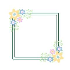 Floral flower frame vector art