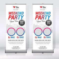 Roll up banner design template
