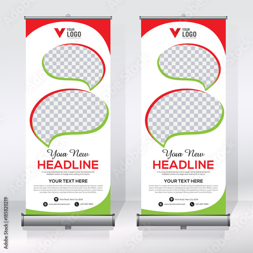 Roll up banner design template stock image and royalty free roll up banner design template pronofoot35fo Choice Image