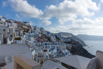 Beautiful view over the city of Oia on the island of Santorini