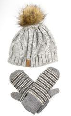 Clothes for a cold season: woolen cap, gloves