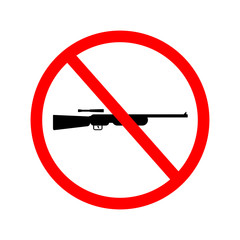 Vector, illustrator of no gun weapon sign. No weapons allowed sign.