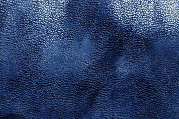 Leather texture in blue color.