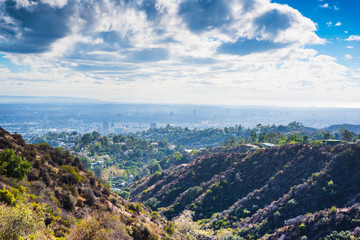 Los Angeles seen from Bronson canyon