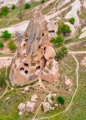 Cave towns. Cappadocia, Anatolia, Turkey. Open air museum, Goreme national park.