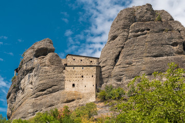 The old fortress called Castello della Pietra built in the XII century and located near Vobbia (Genoa province)