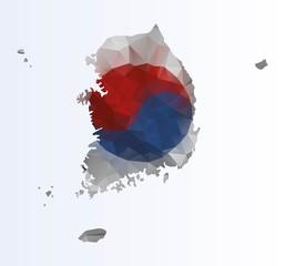 Polygonal map of South Korea