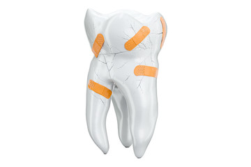 Dental recovery concept, 3D rendering