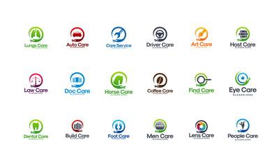 Mega Collection of Care Logo designs vector, Health logo designs collection