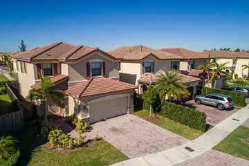 Aerial photo single family homes Florida USA