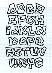 Comic Alphabet. Graffiti Vector Font.