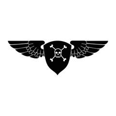 extreme skull emblem icon
