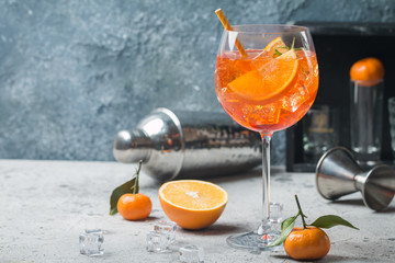 Acrylic Prints Cocktail Aperol spritz cocktail