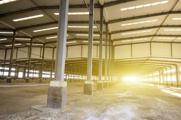 Factory workshop, steel structure