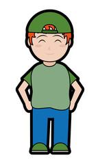Boy cartoon design
