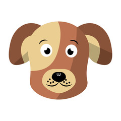 cartoon dog head pet animal icon vector illustration