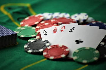 An concept Image of a poker table