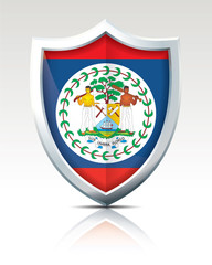 Shield with Flag of Belize