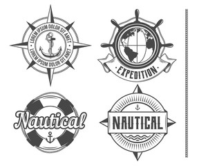Nautical vintage emblems