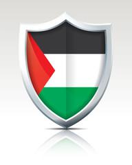 Shield with Flag of Gaza Strip