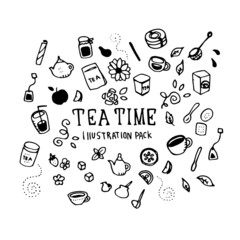 Tea Time Illustration Pack