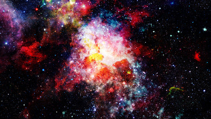 The explosion supernova. Bright star. Elements of this image furnished by NASA.