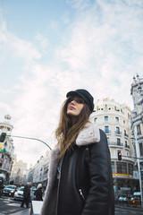 Pretty woman on street