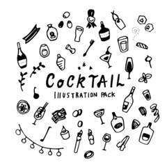 Cocktail Illustration Pack