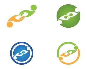 Hand people business logo