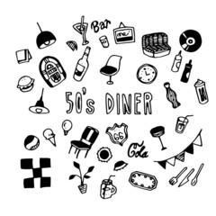 50's Diner Illustration Pack