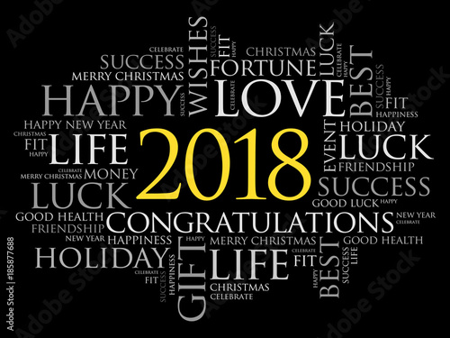2018 year greeting word cloud collage happy new year celebration 2018 year greeting word cloud collage happy new year celebration greeting card m4hsunfo Image collections