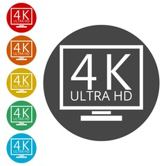 Ultra HD 4K icon set
