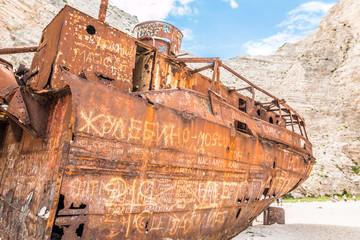 Wall Mural - Shipwreck in Zakynthos Island Greece