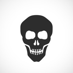 Skull death vector sign