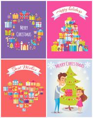 Happy Birthday Merry Christmas Vector Illustration