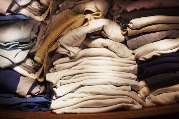 Old Clothes in Closet