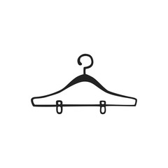 Vector hand drawn icon of hanger