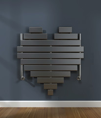 heart-shaped heater