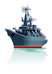 Cartoon battleship.