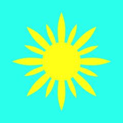 Creative sun icon.
