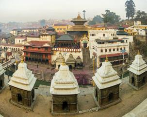 Photo sur Aluminium Népal Background of Pasupatinath temple the famous hindu's temple in Kathmandu Nepal