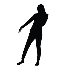 posing woman silhouette design