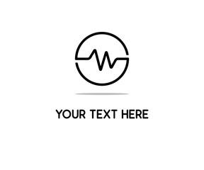 heart beat line logo design