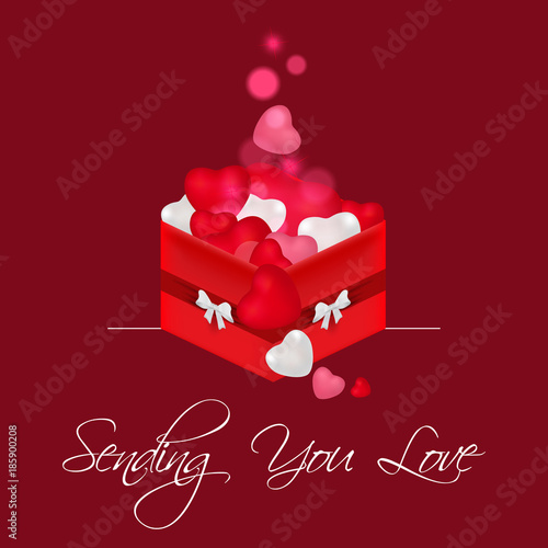Valentine Day Box With Love. Sending You Love Quote. Creative Valentineu0027s  Day. Happy