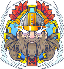 mythological scandinavian god of thunder Thor