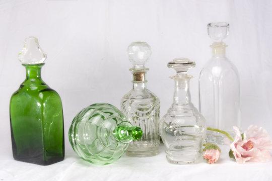 Alte Glasflaschen Kristall